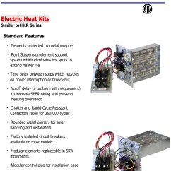 Goodman Electric Heat Wiring Diagram 3w Led Driver Circuit 5 Kw Strip For Units Gph Gpc Ar Aer Adp