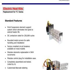 Heil 5000 Wiring Diagram Triumph Bonneville T140 15 Kw Breakered Heat Strip For Air Handlers Fcv Fcp