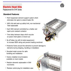 Tempstar Furnace Wiring Diagram Frost Stat S Plan 10 Kw Heat Strip For Air Handlers Eb P X V Wa