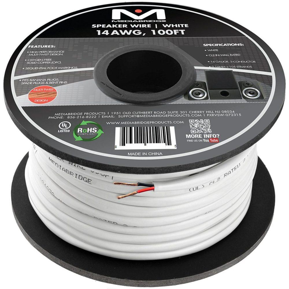 medium resolution of mediabridge 14awg speaker wire budget home theater speaker