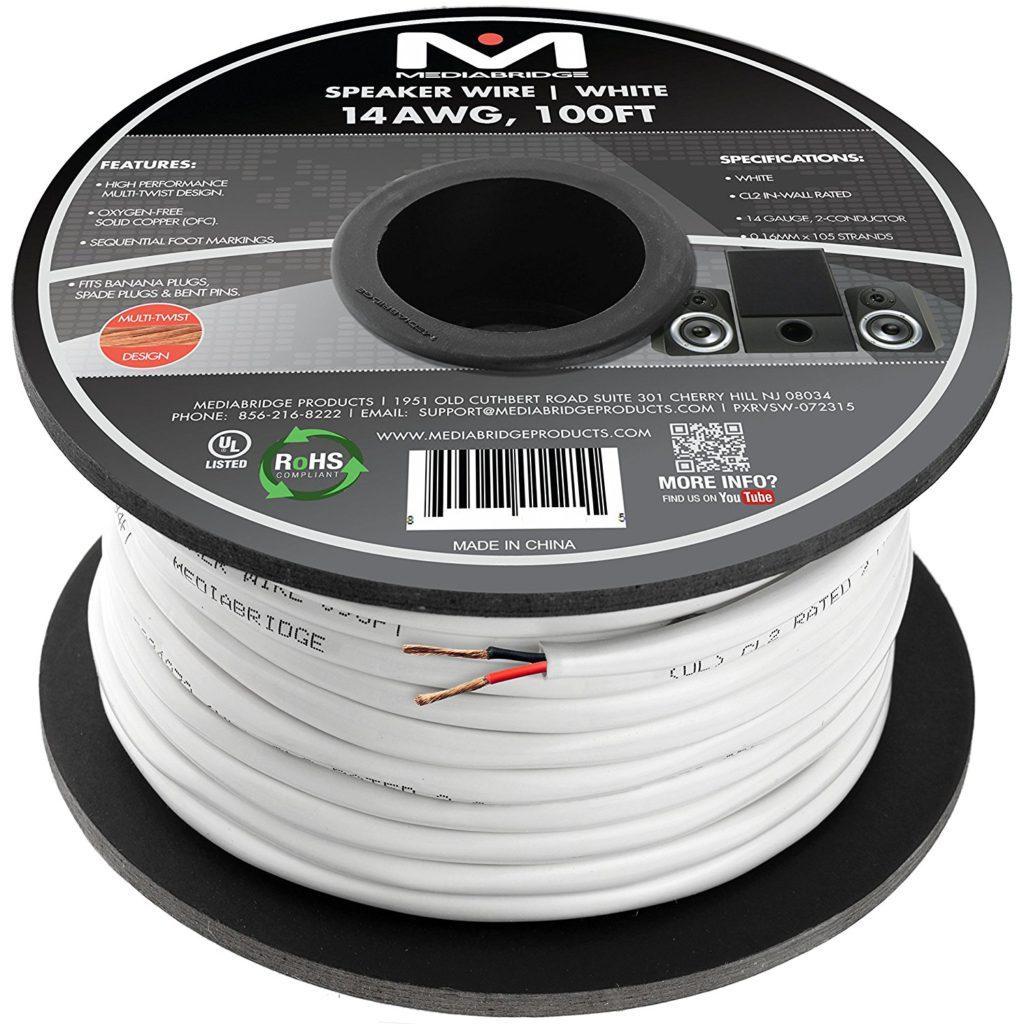 hight resolution of mediabridge 14awg speaker wire budget home theater speaker