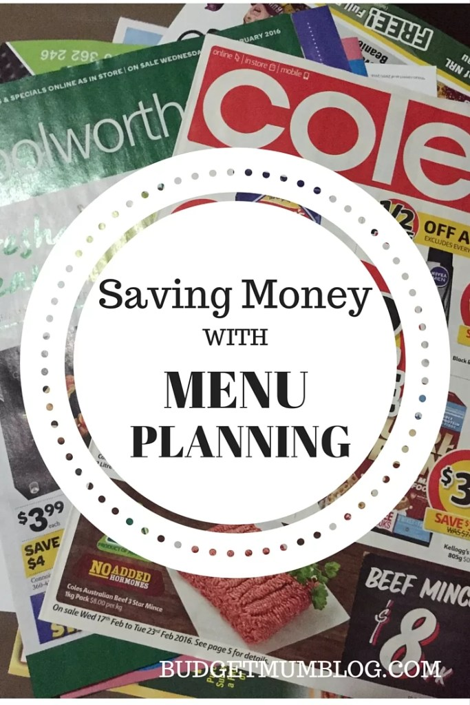 how to save money on groceries with menu planning