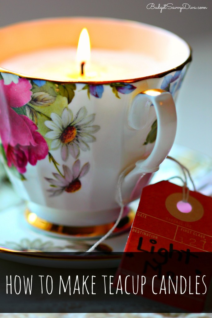 How to Make Teacup Candles