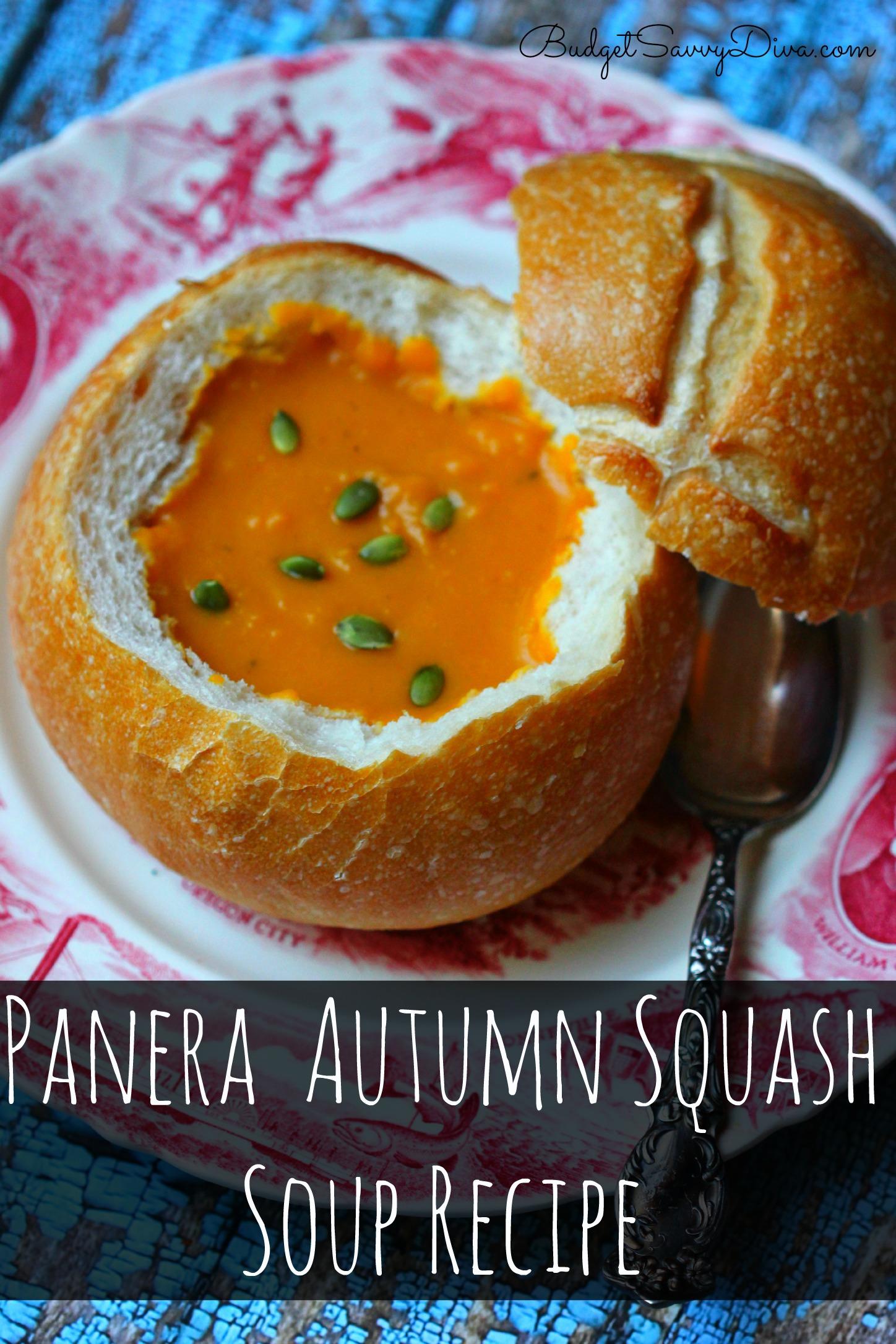 Panera Autumn Squash Soup Recipe  Budget Savvy Diva