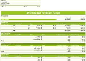 Event Budget Templates