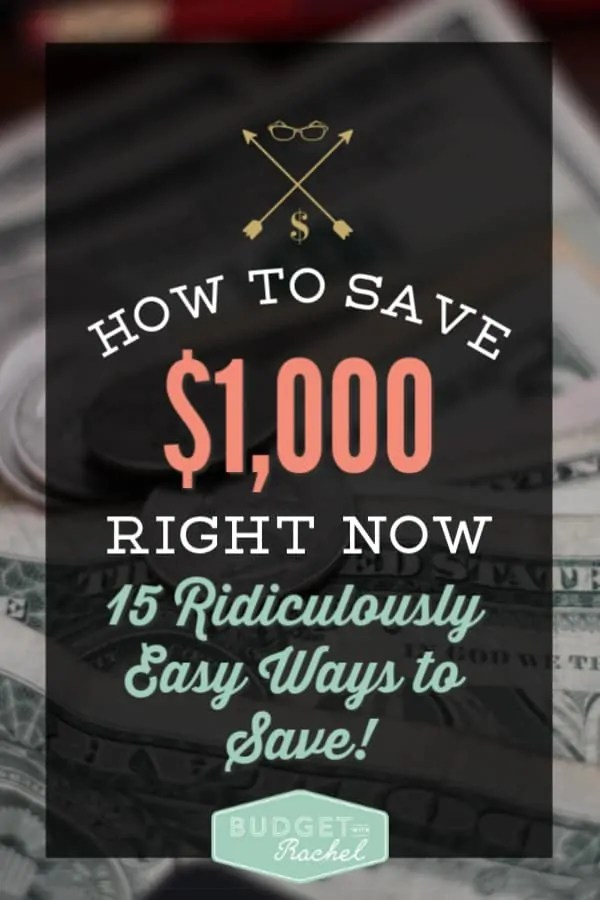 15 Super easy ways to save $1,000 | save money quickly doing these 15 things | creative ways to save money | money saving ideas | money saving tips | frugal living #moneysavingtips #moneysavinghacks #savemoneytips #savemoney #budget #frugalliving