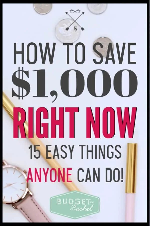 I was trying to save my emergency fund super fast and since implementing these 15 money saving tips, I have $1,000! I was able to save $1,000 fast! These money saving hacks are super helpful and so easy to do! If you are trying to save money without major sacrifice, you need to try these tips to save money.