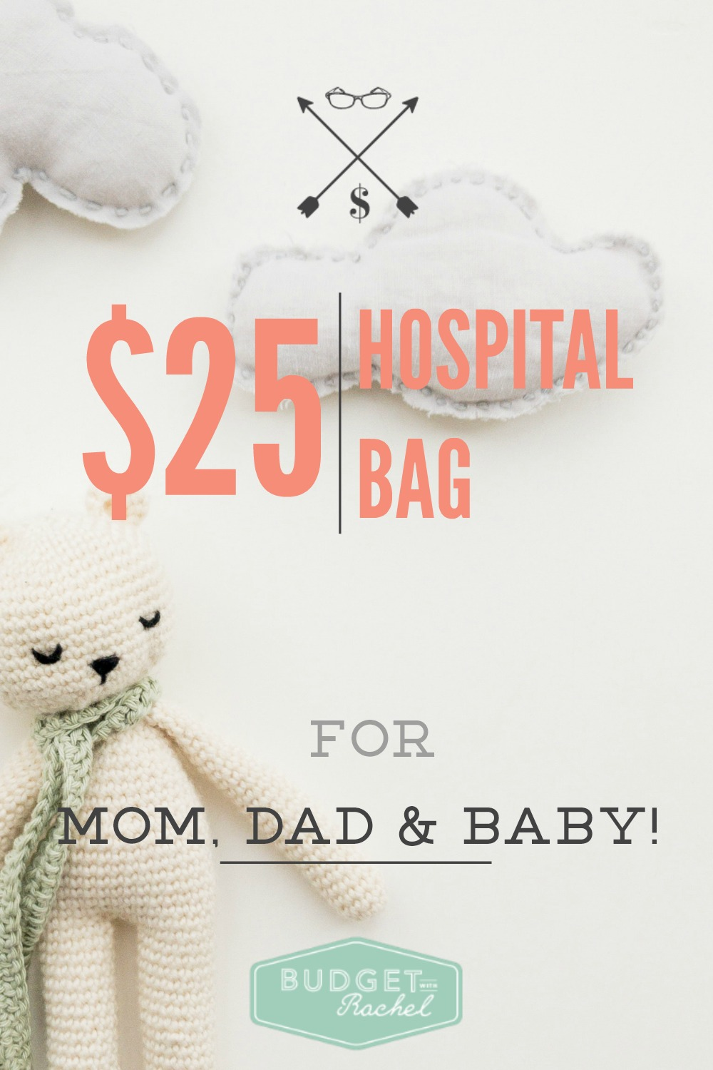 Don't Break the Bank Preparing For Your Water to Break.  Pack a Hospital Bag for Mom, Dad, and Baby for $25. Yes! Love this! So amazing! I have been searching and searching for a super budget friendly way to pack hospital bags for the family and this is it!! Ignore all the other advice out there, this is the best information if you don't want to spend money preparing for your baby's birth. I will be keeping my hospital bags under $25 for sure.