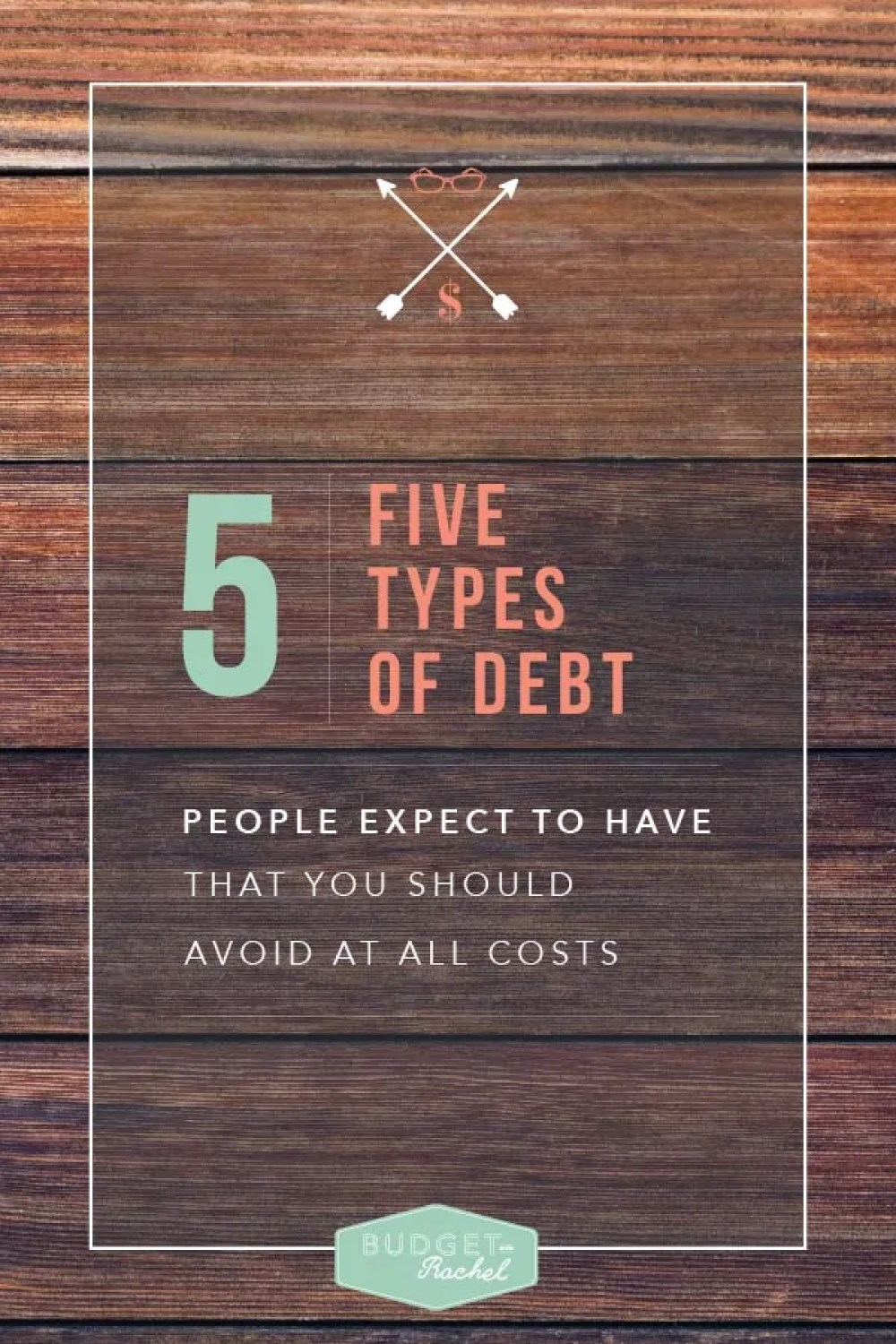 5 types of debt people expect to have that you should avoid at all costs. I wish I had read this advice sooner. I have 4 out of 5 of these types of debt people expect, and wish I would have avoided them. I had no idea these debts didn't have to be part of my future. My life would be completely different without these debts, especially #4!! Now I know better and will always avoid these debts at all costs!