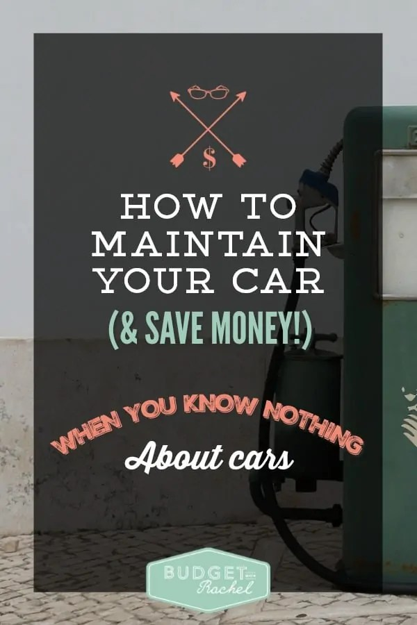 How To Maintain Your Car (& Save Money!) When You Know Nothing About Cars. This is such good advice! I have been hit with a few big time car repair bills that probably could have been avoided had I been doing this. Now I do a couple of these things and our repair costs have gone way down!!
