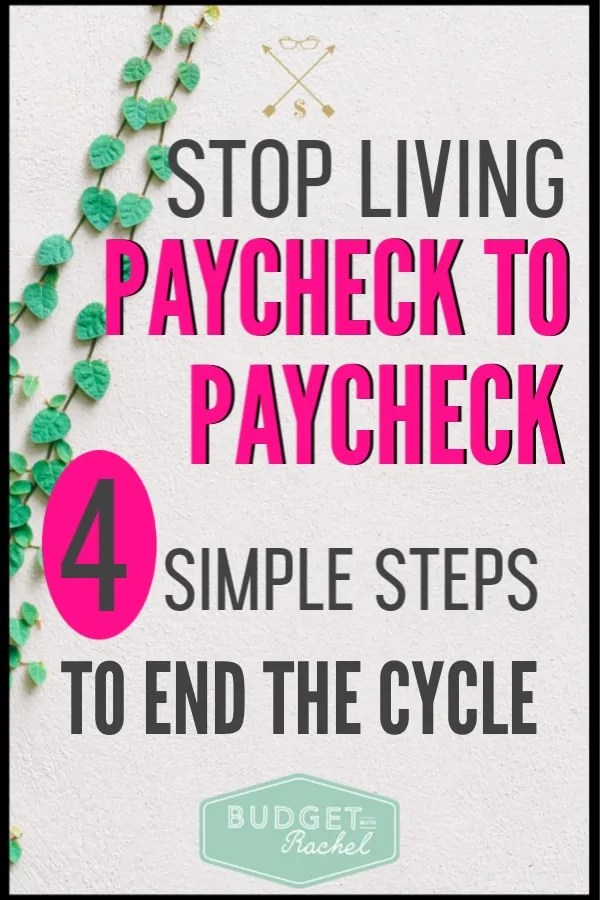 Waiting for payday every month is so stressful. I used to wish for things to be different, but I had no idea how to make it happen. After following these 4 money tips, I no longer live paycheck to paycheck! It is amazing. This budgeting concept is so simple, yet it can change everything! #budget #moneymanagementtips #paycheck