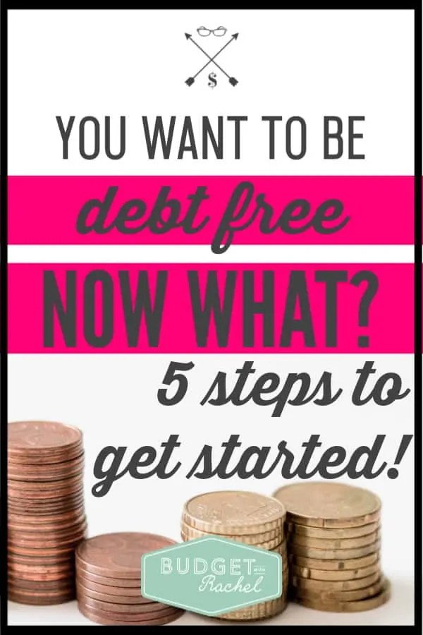 Getting out of debt is so exciting! If you want to get out of debt, these are the first five things you should be doing. Becoming debt free is possible, just work it one step at a time! #debtfree #debtpayoff #financialfreedom