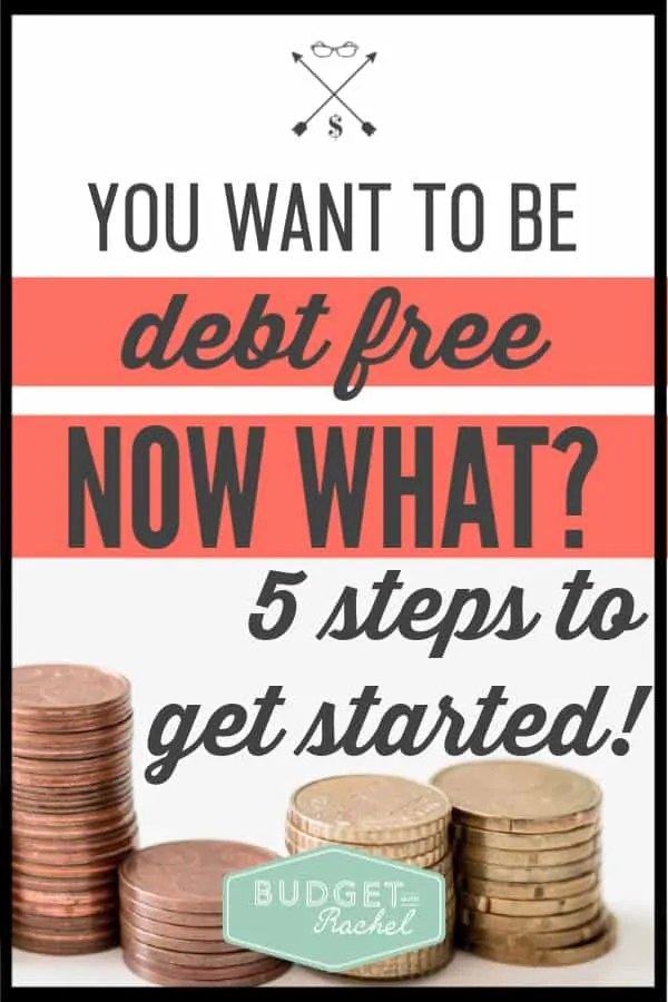If you have decided it's time to ditch your debt, there are 5 steps you need to take first! Start your debt free journey off on the right foot by following these first crucial steps. #debtpayoff #debtfree #financialfreedom