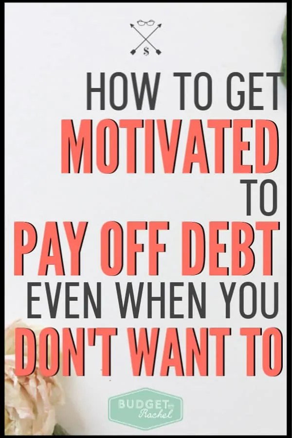 When you struggle with your debt payoff journey, these are awesome tips to help you get re-motivated to pay off debt. If the amount is overwhelming, sometimes you need some extra encouragement to keep going. Use these 5 tips to re-motivate yourself during your debt payoff journey and stay on track! #debtpayoff #debtfree #financialfreedom