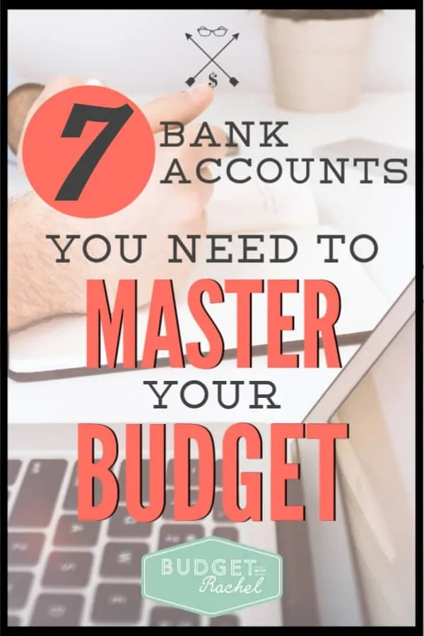 Having multiple accounts totally saved our budget. Since implementing multiple accounts, we have stuck with our budget every month. Learn what accounts you need and how to make it happen. #budget #budgettips #freeprintables