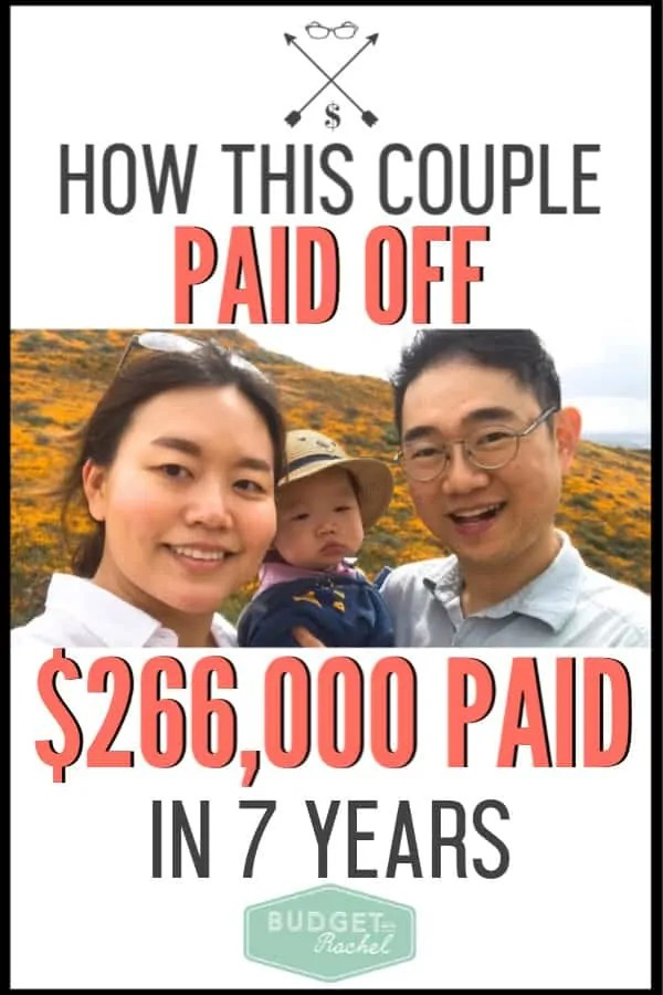 Six-figure debt can be intimidating and feel impossible to pay off. If you are trying to become debt free with a large debt load, check out what this couple was able to do. Debt payoff is attainable no matter how much debt you are in. #debtfree #debtpayoff #financialfreedom