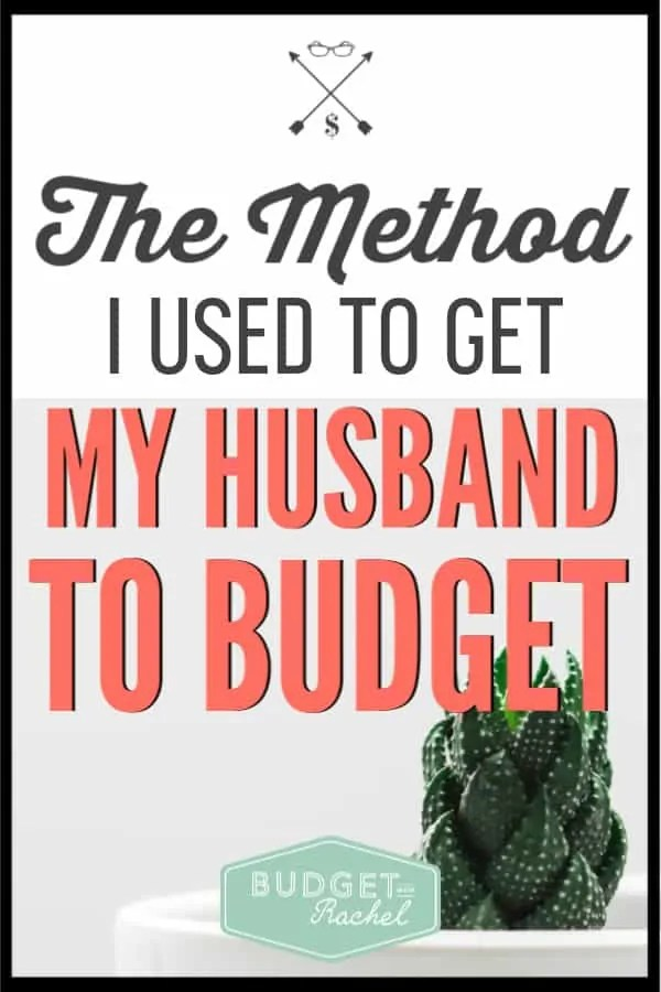 If you are struggling with doing your budget alone, use this method to get your husband on the same page. Getting your husband to budget can be a bit frustrating, but I will share with you the exact method I used to get my husband on board. This will work! #budget #budgettips #financetips