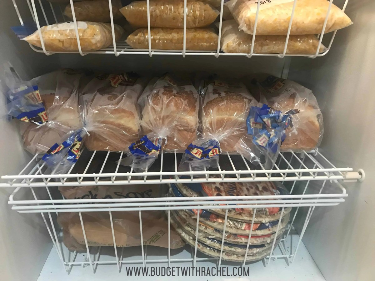 freezer with bread