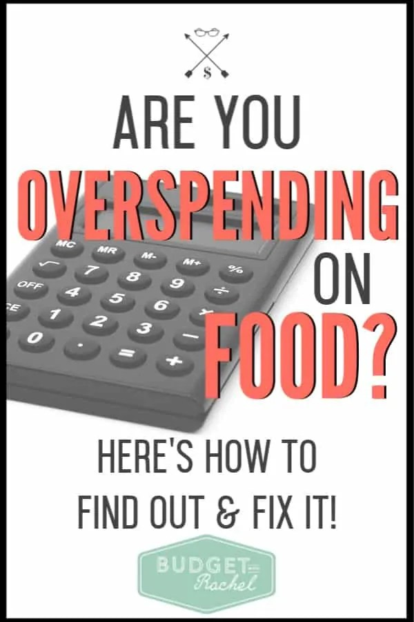 If you feel like you are spending too much on groceries, check out this simple equation to know for sure! Overspending on groceries can make or break your budget, so make sure you aren't spending too much on food. #groceries #budget #moneysavingtips