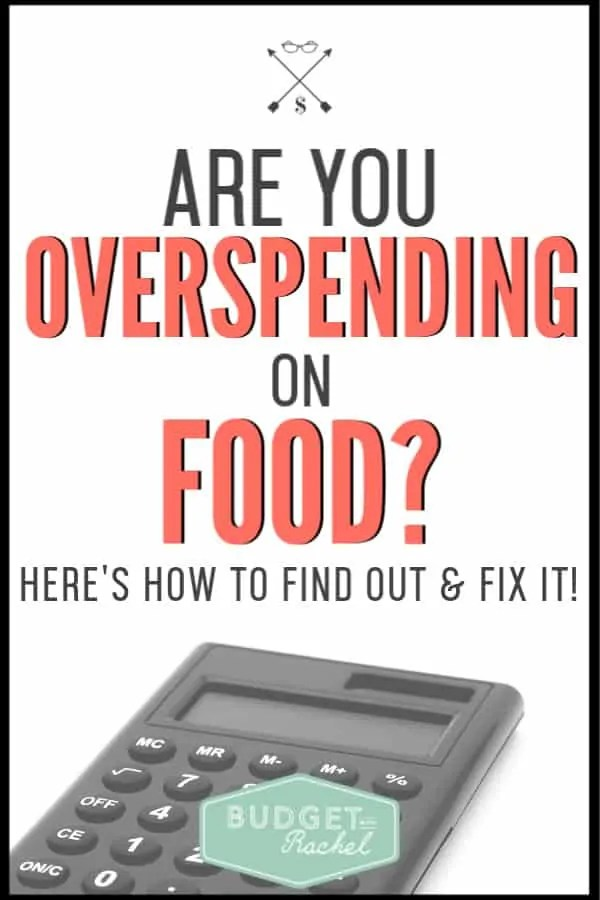 Is your food budget out of control? Find out if you are spending too much on food and how you can fix it. Take control of your food budget today! #budget #budgettips #savemoney