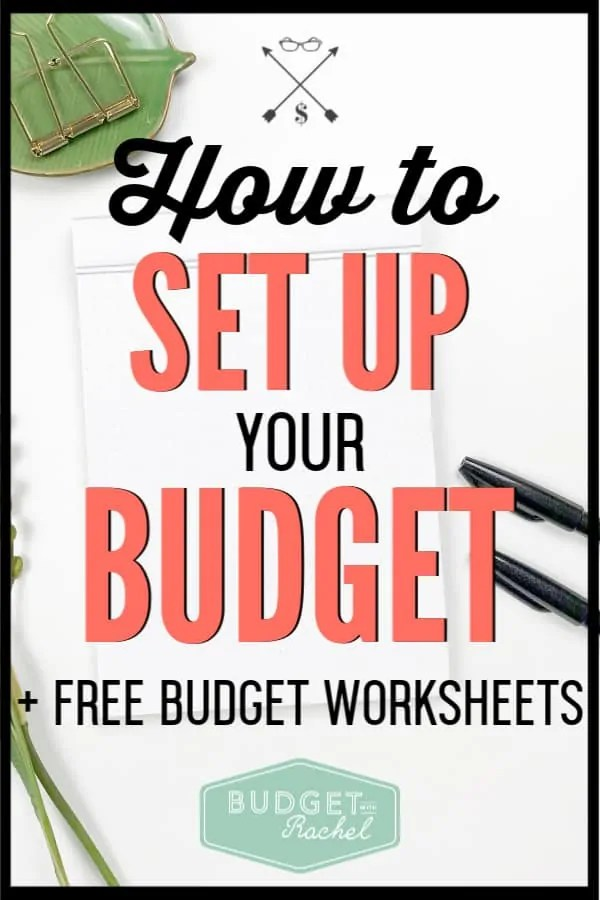 Not sure how to set up a working budget? Struggle no more! Learn how to create a new budget every single month. Set up your budget today! #budgettips #budget #freeprintables