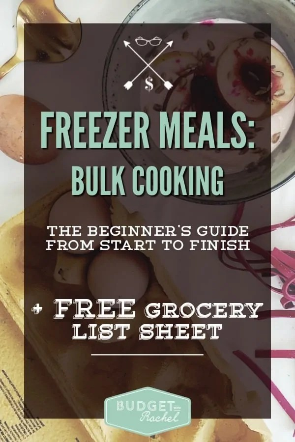 How to Do Bulk Cooking Freezer Meals From Start to Finish. These are amazing! At first I didn't think I could do this, but with the step-by-step instructions and helpful lists, this was a breeze! I made 9 meals and now have food in my freezer for a few months. So happy I tried this!