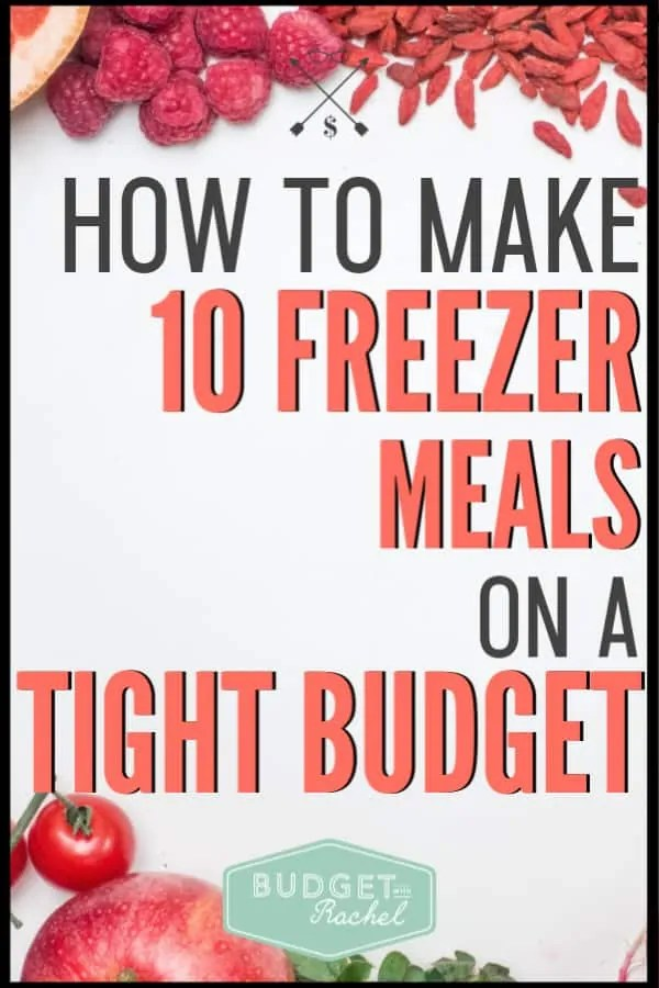 Freezer meals can be intimidating, but they don't have to be! You can easily make 10 freezer meals in just a few hours on a super tight budget. If you are looking for ways to save money on food, you have to try making freezer meals! These are the easiest way to save time and money on food. #savemoney #moneysavingtips #budgettips