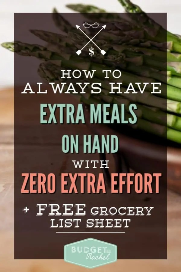 Never get stuck with not having a meal on hand in a pinch | how to use freezer meals as part of your everyday cooking | use freezer meals to always have a meal on hand | make ahead meals | meal planning | meal prep | simple meal plan | freezer meal planning | how to integrate freezer meals into your daily cooking with zero added effort #mealplan #freezermeals #mealprep #freeprintables