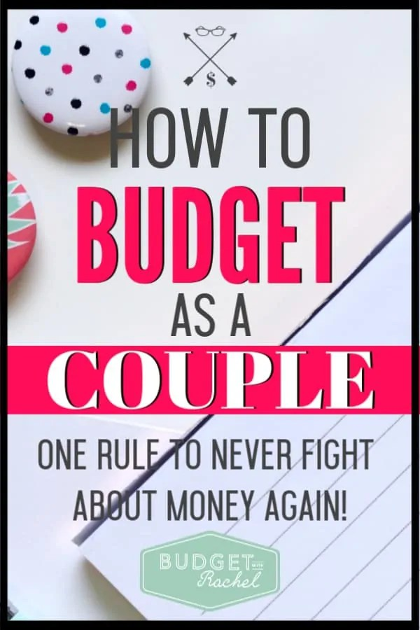 I used to struggle actually putting together a budget with my husband, but after learning the golden rule of budgeting as a couple, we don't fight anymore! This is amazing! I was seriously over complicating everything. These tips for budgeting as a couple are super helpful!!