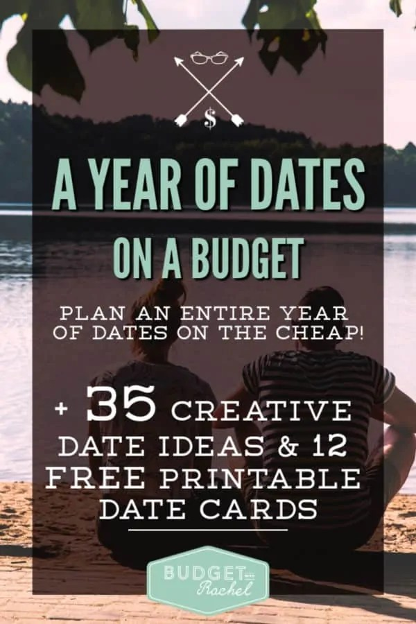 One year of dates ideas | dates on a budget | dates on a budget ideas | printable date night ideas | printable date cards #datenight #budget #budgeting #couples #printables #moneysavingtips