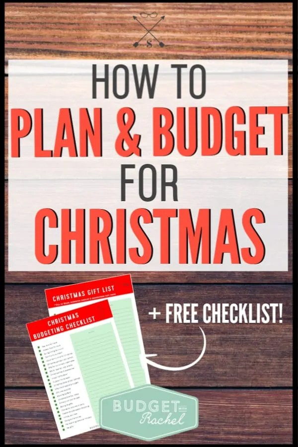 If you struggle to stick to your Christmas budget, you need our free printable checklist! If you make a plan and budget for Christmas, it will decrease stress and control your spending. Use these budget tips to have the best Christmas yet! #budget #budgettips #moneysavingtips #freeprintable