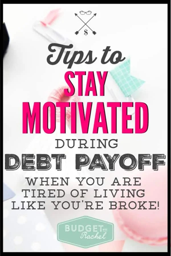 Debt payoff can feel like it is taking forever! Sometimes I seriously lose motivation. These helpful tips to stay motivated during debt payoff are so helpful! Debt payoff motivation and inspiration is necessary to stay on track. If you want to rock your debt payoff, you need these debt payoff motivation tips!