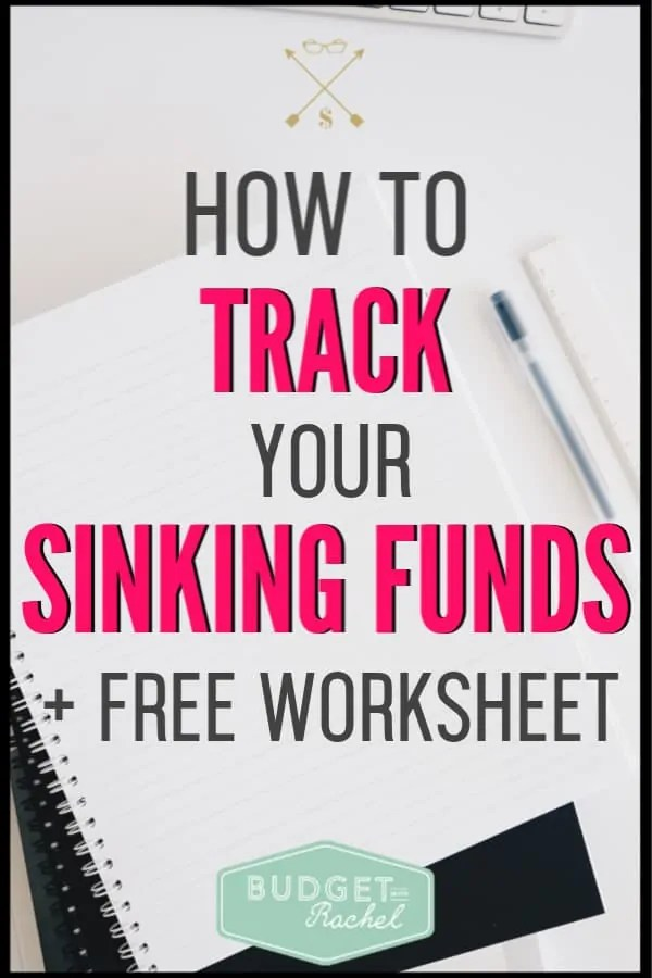 I didn't even know what sinking funds were, but they have been life changing! Tracking your sinking funds is so important and has helped me stay on budget and pay off debt. I don't go over budget anymore and I have no money stress! You need to use this worksheet and start tracking your sinking funds!