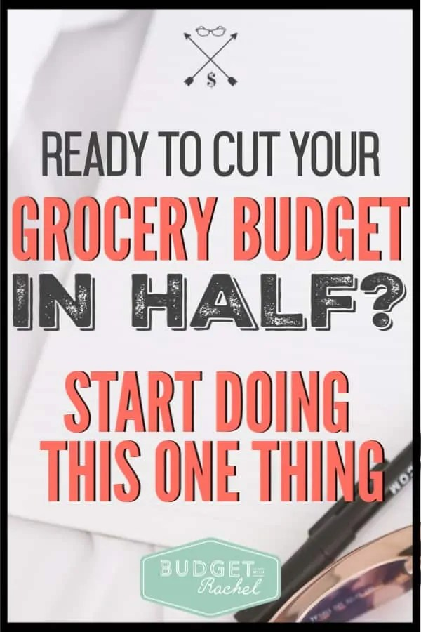 Not sure how to cut your grocery budget, but you need to save money on food? This is the secret to reducing your grocery costs! It's easier than you think! #budget #budgettips #savemoney #moneysavingtips