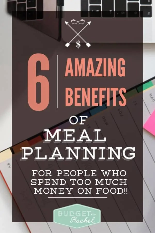 Meal planning for beginners | 6 reasons you should be meal planning if you spend too much on food | monthly meal plan | meal planning on a budget when you need to save money | the best way to save money on groceries and more! #mealplan #mealplanning #budgeting #moneysavingtips #mealplanningmadeeasy