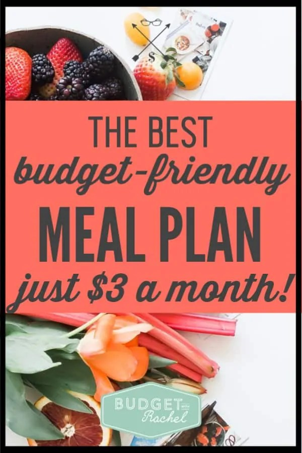 Looking for a cheap meal plan service? This monthly meal plan is just $3! This is the best meal plan that will actually save money on food. If you want budgeting tips and a meal plan that works, you need this meal plan. #mealplan #savemoney #moneysavingtips #budgettips