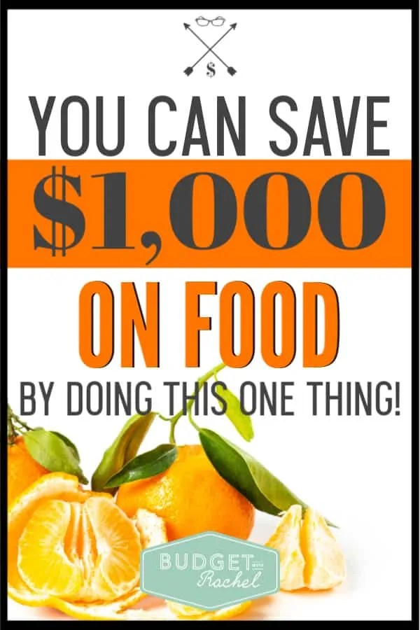 This was the craziest thing! This money saving tip for food is so simple and I seriously saved over $1,000! So simple! I wish I had done this years ago! If you are trying to save money on food, you need to start doing this!