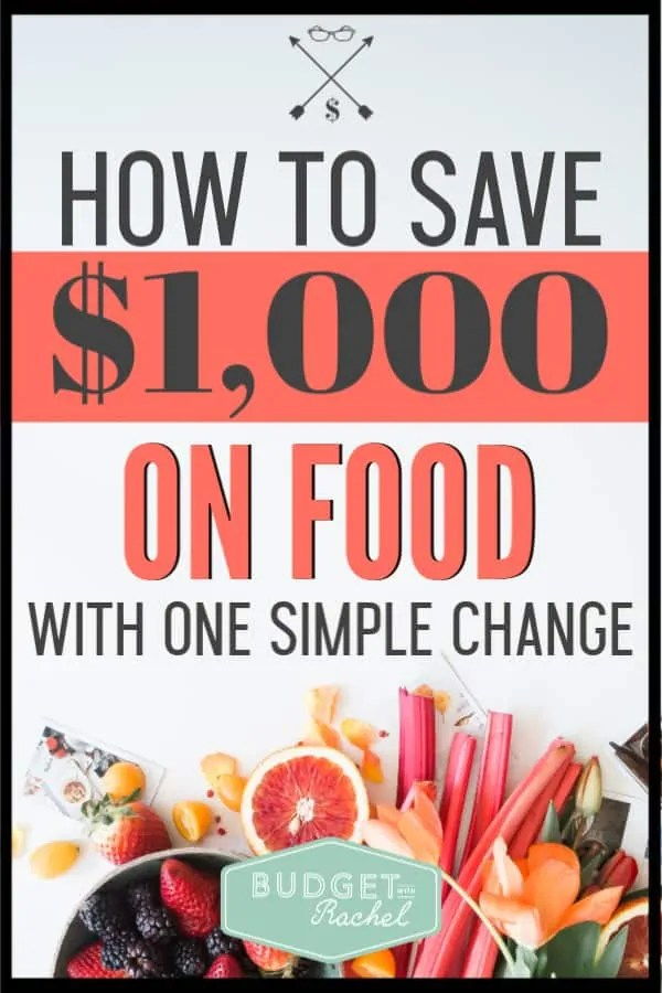 Food can be so expensive! If you are looking for ways to save money on groceries, this is the easiest thing you can do that will save you tons of money! Since doing this one thing I have saved $1,300 every year! #savemoney #moneysavingtips #budget