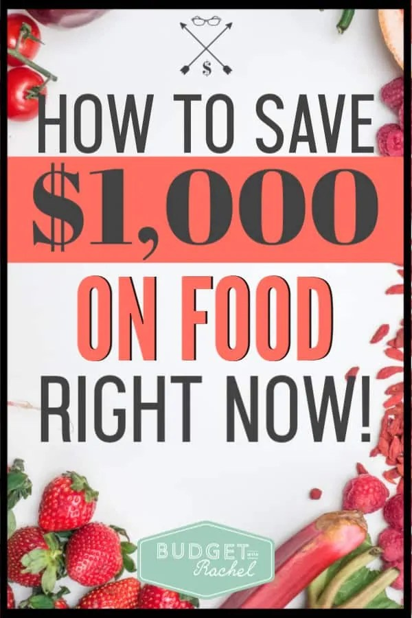 Are you spending too much on food every month? Here is a simple thing you can do to start saving tons of money on food! It is one of the most overlooked ways to save money on food. #savemoney #moneysavingtips #budget