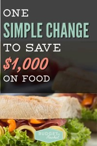 Want to know the secret to saving money on food that isn't meal planning? This one change saved us $1,000 per person on food in one year. It was so simple, I couldn't believe we hadn't done it before! Pay off debt and stick to your budget when you make this one change. Money saving tips | money saving ideas | food budget | budgeting tips | budgeting for beginners | frugal living | free printables #savemoney #frugalliving #freeprintables #budget #debtpayoff