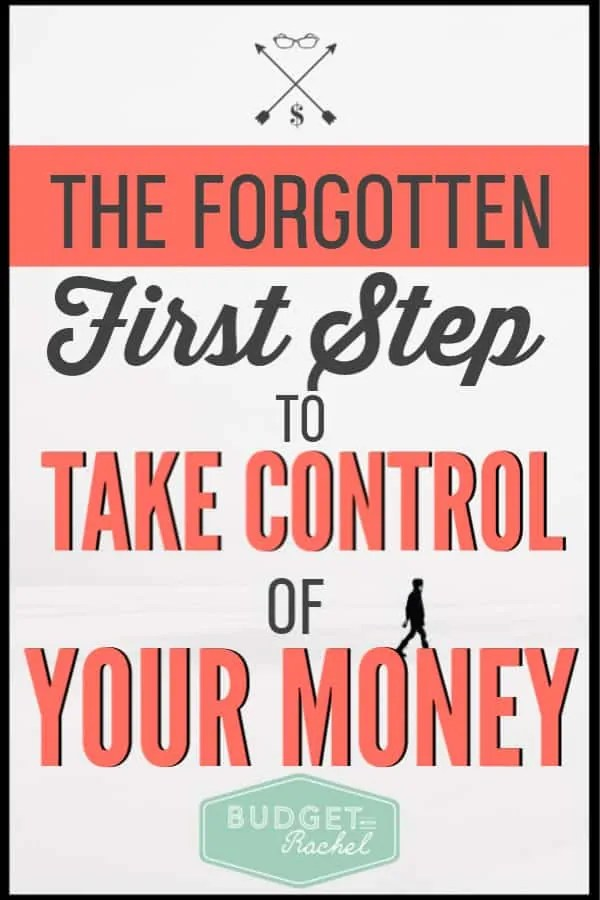 Don't know how to get financially organized? This is step one! If you want to finally take control of your money, you need to be doing this! If you are ready to start budgeting or pay off debt, don't forget to do this first! #budget #budgettips #debtpayoff #financetips