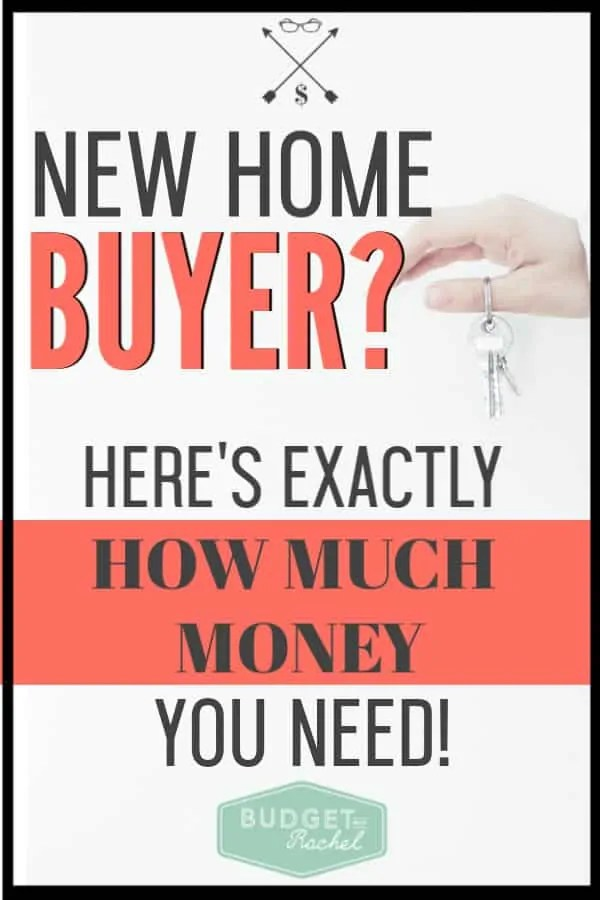 Ready to buy your first home? Here is exactly how much money you actually need to have to purchase your first house! Don't be overwhelmed, just be prepared for a few expenses. #home #savemoney #moneysavingtips