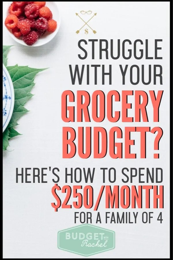Spending money on food can be a total budget buster. If you have been struggling to keep your food costs low, you need to start using these simple grocery planning tips. These simple planning tips have helped me keep my grocery budget at just $250/month for a family of four! #budget #budgettips #savemoney