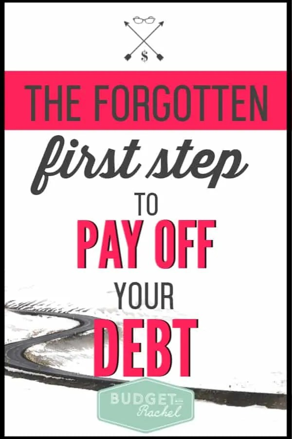 If you want to become debt free, you need to do one thing first. Without this first step, you will find it hard to stick to debt payoff when you are tempted. Financial freedom is totally achievable through debt payoff, but you need to do one thing before you start! #debtfree #debtpayoff #financialfreedom