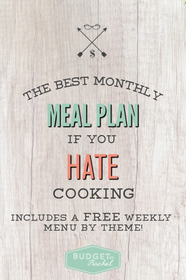 The easiest meal plan for beginners to help you get started | stop guessing what's for dinner and have a plan | meal planning for beginners | budgeting tips for food | debt payoff accelerated with meal planning | meal planning for people who hate cooking | meal plan #mealplan #mealplanning #mealprep #budgettips #debtpayoff