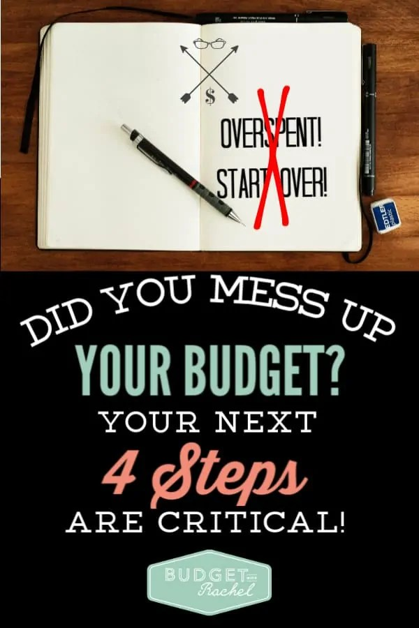 If you messed up this month and overspent, you need to these next 4 steps. I am so thankful I found this information. It totally saved me when I gave up on budgeting. These are such practical tips for finances that have helped me so much! #financetips #budget #budgettips #freeprintables