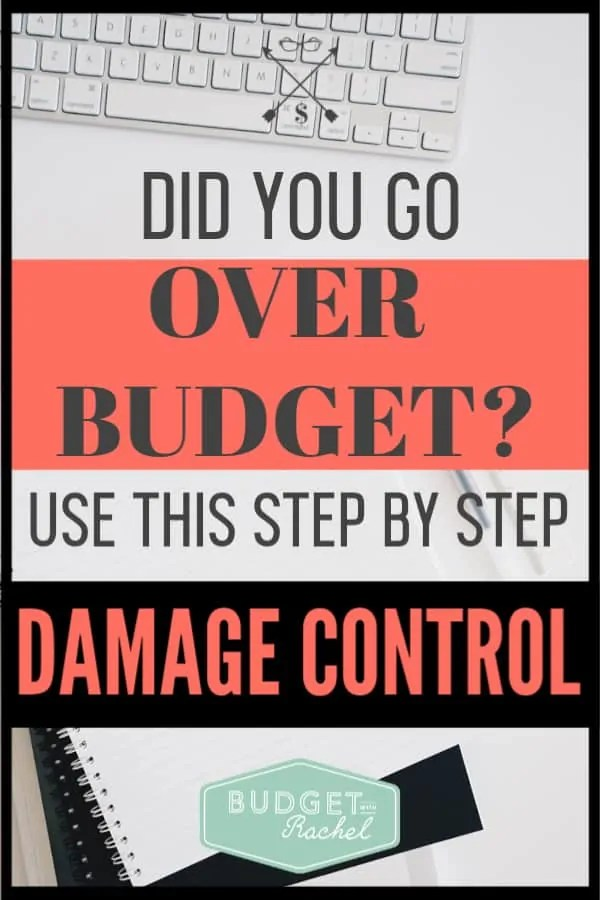 Whoops! Did you go over budget this month? Don't panic! People go over budget all the time, but did you know there are key steps you can take when this happens to prevent it from becoming a full blown emergency? Follow these finance tips to help you if you went over budget and stop stressing! #budget #budgettips #financetips
