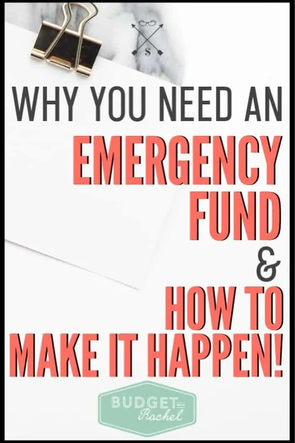 An emergency fund used to be the last thing on my mind, until I had a major emergency! We know these things will happen, so why not be prepared. Follow these simple steps to get your emergency fund started today! #budget #emergencyfund #savemoney #financetips
