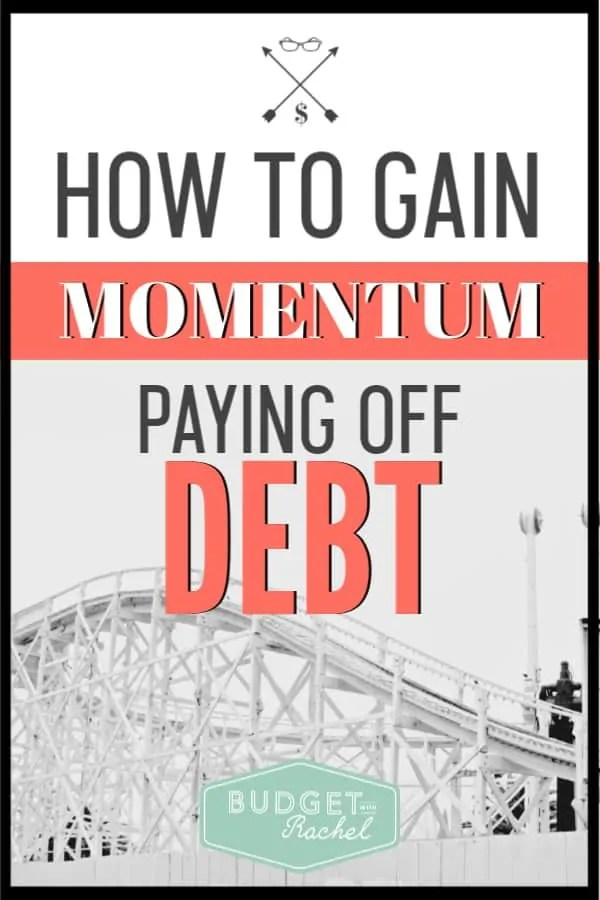 Getting out of debt can be an overwhelming process if you don't have a plan. Use this debt payoff plan to gain momentum and start getting out of debt fast. These simple steps will get you moving toward debt payoff super fast! #debtpayoff #debtfree #financialfreedom