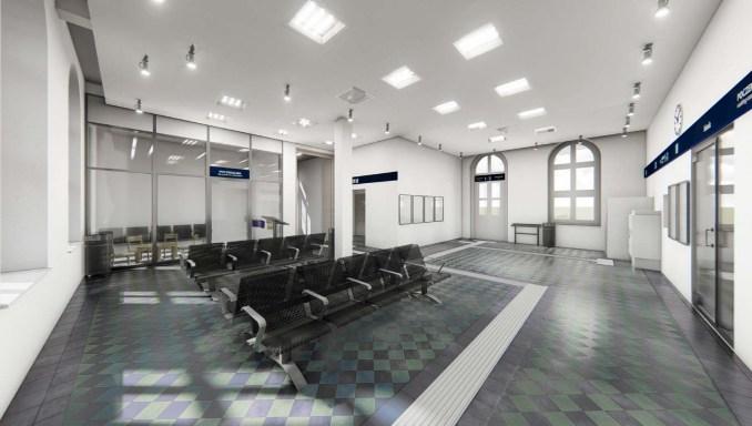 Dworzec Trzemeszno - wizualizacja - wewnętrzna